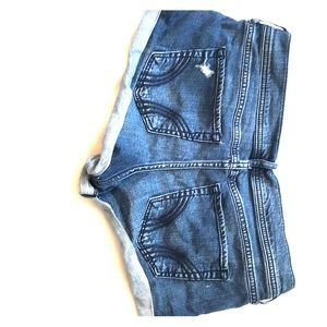 Hollister stretch low rise denim shorts